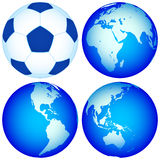Globes et carte Photographie stock libre de droits