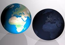 Globes et terre image libre de droits