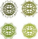 Globes floraux Image libre de droits
