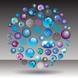 Globes, globes et plus de globes Images libres de droits