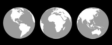 Globes Greyscale Royalty Free Stock Photo