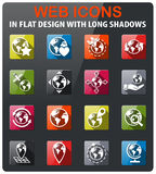 globes icon set Royalty Free Stock Photography