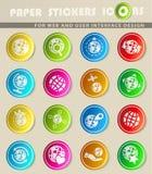 Globes icon set Royalty Free Stock Photos