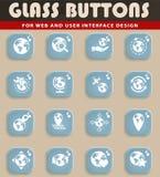 Globes icon set Royalty Free Stock Image