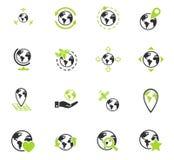 Globes icon set Royalty Free Stock Photo