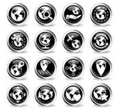 Globes icon set Royalty Free Stock Images