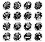 Globes icon set Stock Photo
