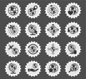 Globes icon set Stock Image