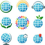 Globes icons Royalty Free Stock Photo