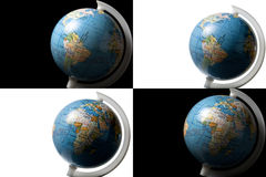 Globes Isolated on White and Black Stock Image