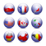 Globes with maps  Stock Photos