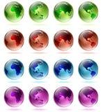 Globes multicolores Images libres de droits