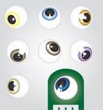 Globes oculaires à angles Images libres de droits