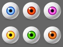 Globes oculaires humains. Photo libre de droits