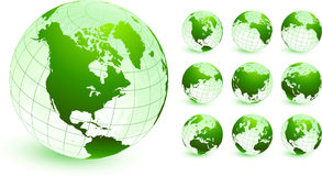 Globes Original Vector Illustration Stock Photography