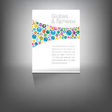 Globes page with understated plain background Stock Image