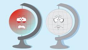 Globes pleurants de la terre. illustration de vecteur