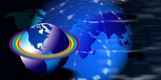 Globes with a rainbow Royalty Free Stock Photos