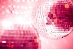 Globes rouges de disco Photographie stock libre de droits