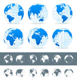 Globes set - illustration. Stock Images