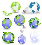 Globes with some floral elements Royalty Free Stock Image