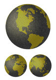 Globes. Stylized 3D vector maps. Stock Photo