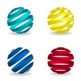 Globes symbol set. Globes symbol - set. Vector illustration Vector Illustration