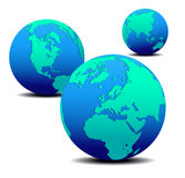 globes three Στοκ Εικόνα