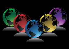 Globes vector Royalty Free Stock Photo