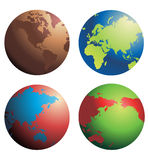 Globes vector Stock Photography