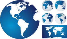 Globes and world map Royalty Free Stock Photo