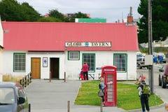 GlobeTavern em Stanley portuário, Ilhas Falkland. Imagem de Stock