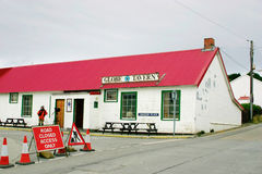 GlobeTavern em Stanley portuário, Ilhas Falkland. Imagens de Stock Royalty Free