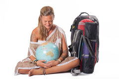 Globetrotter girl Royalty Free Stock Images