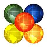 Globi illustrazione di stock