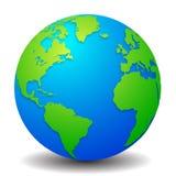 Globi blu con con i continenti verdi - vettore Immagine Stock Libera da Diritti