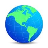 Globi blu con i continenti verdi - vettore Fotografia Stock