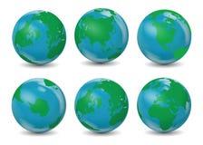 Globi classici della terra Immagine Stock Libera da Diritti