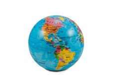 Globi con l'America fotografia stock libera da diritti