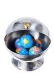 Globi in contenitore del metallo Fotografia Stock