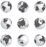 Globi d'argento Fotografia Stock Libera da Diritti