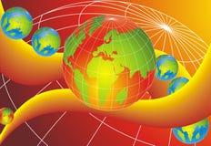 Globi del mondo del cursore Immagine Stock Libera da Diritti