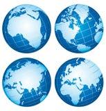 Globi del mondo della terra. Fotografia Stock Libera da Diritti