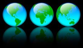 Globi del programma di mondo Fotografia Stock