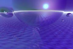 Globi dell'acqua blu Fotografie Stock Libere da Diritti