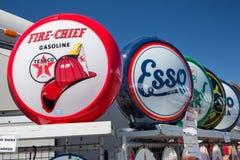 Globi della pompa di gas da vendere Fotografie Stock