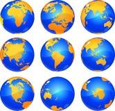 Globi della terra Immagine Stock