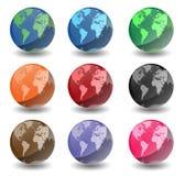 Globi della terra del pianeta Fotografia Stock Libera da Diritti