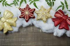 Globi di Natale messi per i saluti di festa Immagine Stock