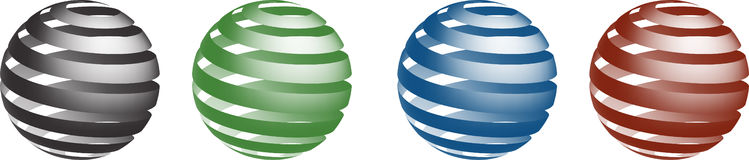 Globi di Swirly Fotografie Stock